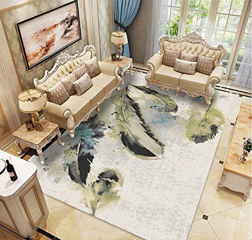 HXJHWB Pile Living Area Rugs Non Shedding - Modern interior exquisite 3D printed carpet living room study children crawling carpet-80CMx160CM