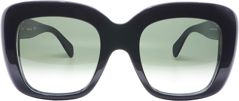 Celine Stella CL 41433 EZD Z3 Petrol Plastic Square Sunglasses Brown Degrade Lens