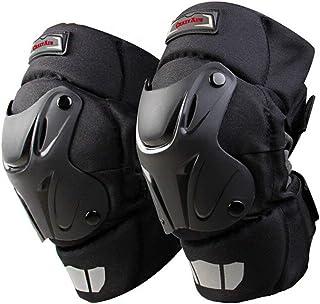 Ajustable pour Motocross v/élo Skate Prot/ège-Genoux prot/ège-Tibia Planche /à roulettes prot/ège-Coudes pour Moto Prot Garde de Protection pour Moto Adulte 4pcs Knee Protection Genou