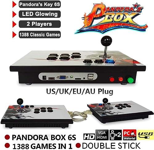precios ultra bajos Waroomss Pandora 's Box, Console doble doble doble Arcade Split adhesivo, Videojuegos Retro consola Arcade doble Stick, 1388juegos clásicos en 1Arcade Box de Pandora  el más barato