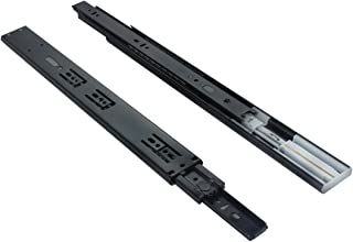 VADANIA 16 Inch Ball Bearing Drawer Slides Soft Close, Side Mounting, 3 Folds Full Extension, 100 Lb Capacity, Black, 1 Pair (2 Pieces)