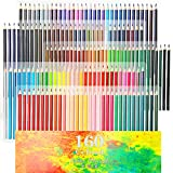 160 Oily Art Coloured Pencils Set for Children & Adults Colouring Books Artwork