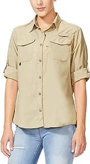 Women's Hiking Long Sleeve Fishing Shirt UPF 50+ for Safari Camping Travelling Quick Dry