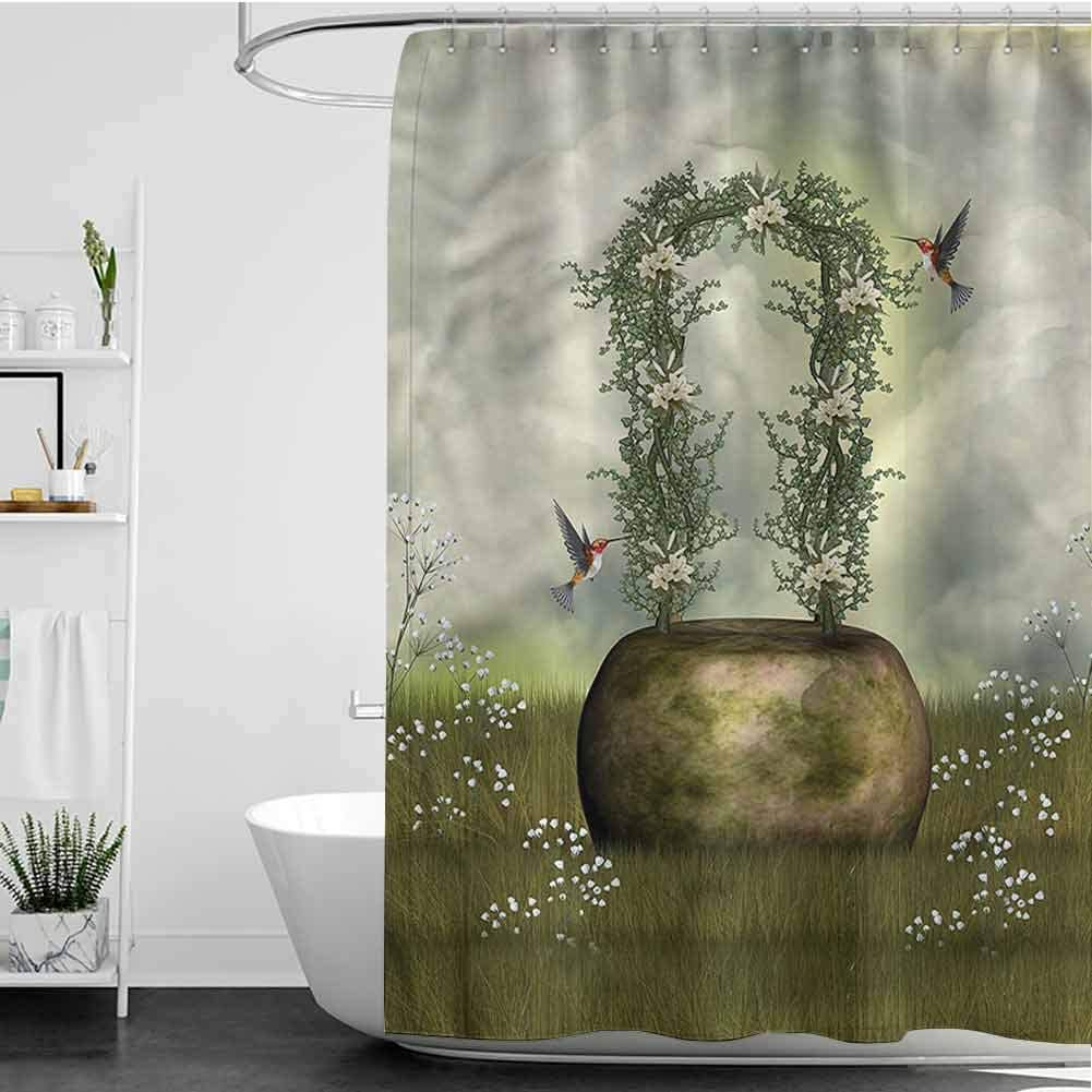 SKDSArts Shower Curtains Kids Boys Cloudy Scene Fairytale W60 100% quality warranty! IN Max 63% OFF