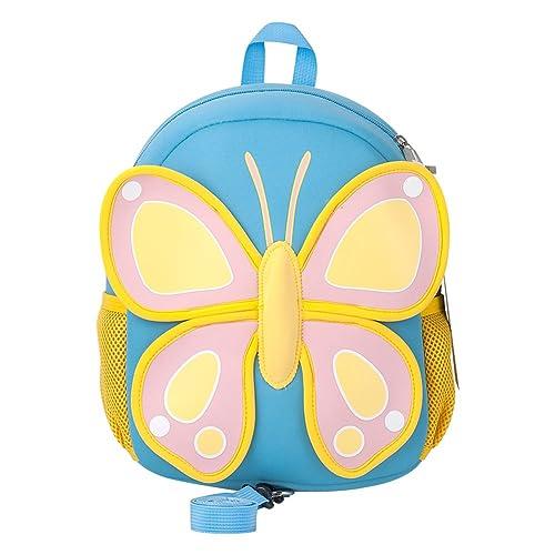 Toddler Backpack, Jenuther Cool Kids Safety Harness Backpacks Preschool Waterproof Cute Cartoon Butterfly Schoolbag for