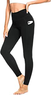 "Safort 28"" 25"" Inseam Women's Yoga Leggings with Pockets, High Waist Workout Pants, Running Gym Tights"