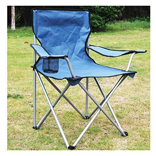 MHIBAX Portable Outdoor Folding Fishing Chair with Armrest Backrest Leisure Folding Chair Beach Chair 50 * 50 * 82cm Blue