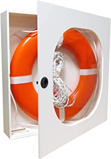 20 Inch Life Ring Cabinet with Throw Line and USCG Buoy