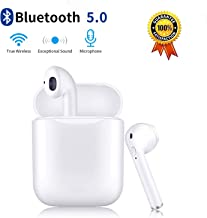 Wireless Earbuds Bluetooth 5.0 Earphones with Charging Case Noise Canceling Sports Earphones IPX5 Waterproof in-Ear Built-in Mic Headset for iPhone Android & Apple Airpods