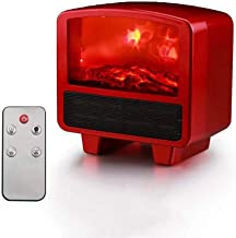 Electric Firebox Heaters Mini Fan Heaters with Remote Control and Overheating Protection Fast Heating for The House and Of...