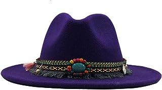 Jeremy Stone Felt Fedora Hats Big Flower Fall Winter chapeu Feminino Sombrero Floppy Bowler Bucket Cap White