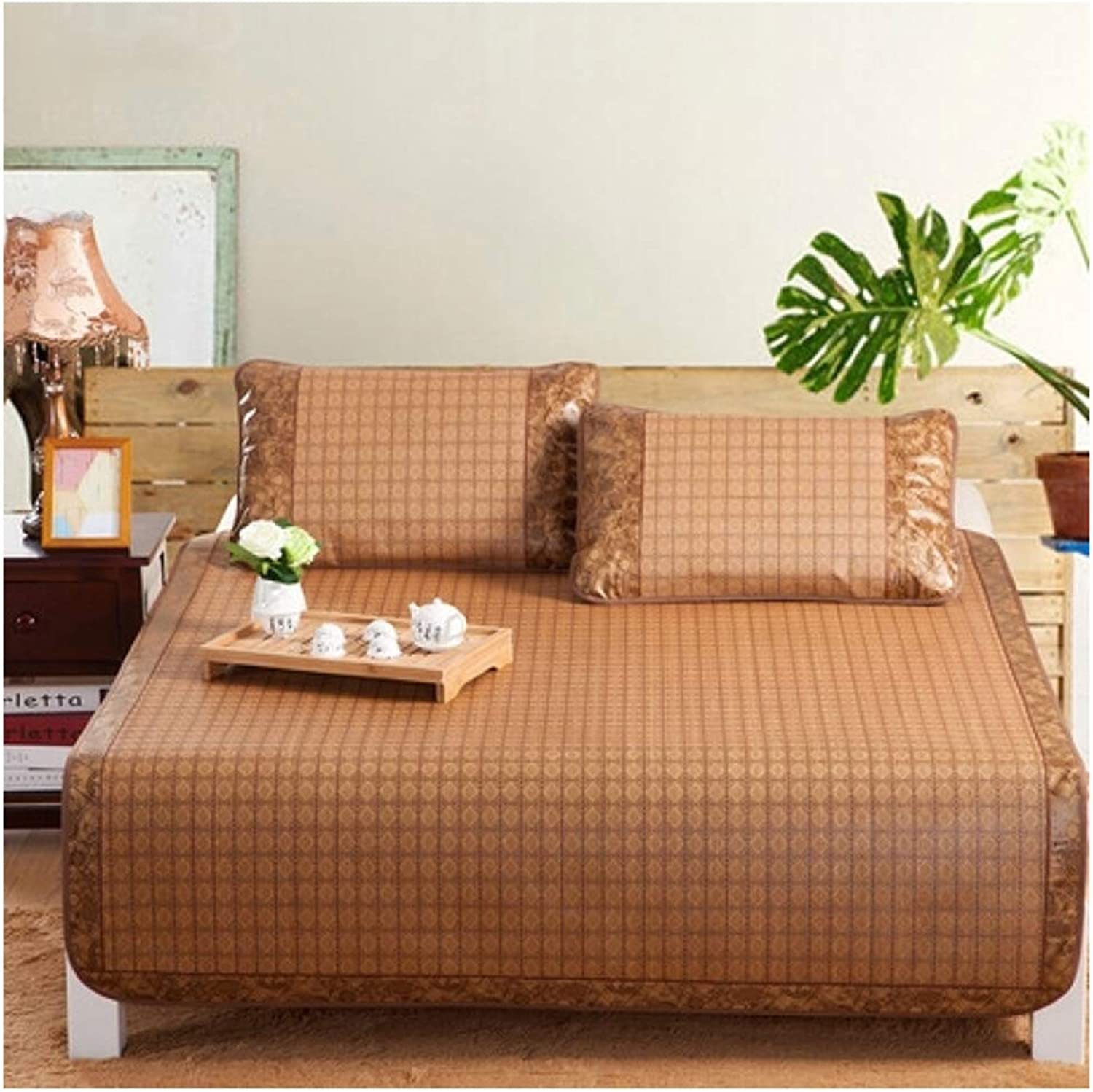 Summer Sleeping Mat-Double-Sided Bamboo Bed Cooling Mat-Multi-Function Bedding Mattress-Topper Pad with Pillowcase,90  190cm(35  75inch)