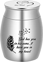 """Beautiful Keepsake Urn for Dad Ashes-1.6"""" Tall Memorial Cremation Urns for Human Ashes-Handcrafted Decorative Urns for Fun..."""