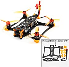 Usmile KBAT136 136mm Micro 3 inch FPV Racing Drone Frame Support Twin Flight Controller Stack/Tower for Rumcam Split Mini 2 Caddx Turtle V2 1080P HD FPV Camera (KBAT136)