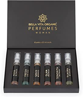 Bella Vita Organic Woman Perfume Gift Set for Women 6x10 ml Perfumes Luxury Scent Long Lasting Fragrance
