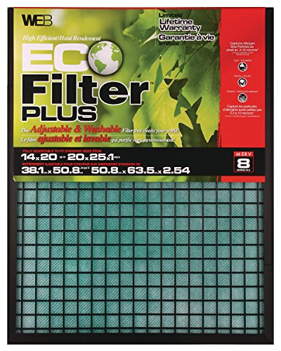 WEB Eco Filter Plus Adjustable Air Filter 14x20x1...