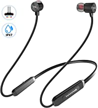 Bluetooth Headphones,NANAMI Bluetooth 5.0 Wireless Earbuds IPX7 Waterproof Sports in-Ear Earphones w/Mic,HiFi Stereo Deep Bass Headsets,Magnetic Neckband 10 Hours Playback for Gym Workout