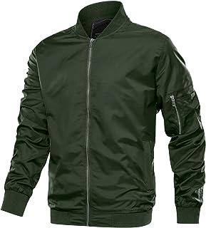 TACVASEN Men`s Jacket-Lightweight Thin Sportwear Flight Bomber Softshell Coat Outwear