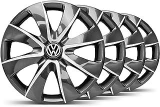 Jogo Calota Prime Grafite Prata Aro 14 VW Gol G5