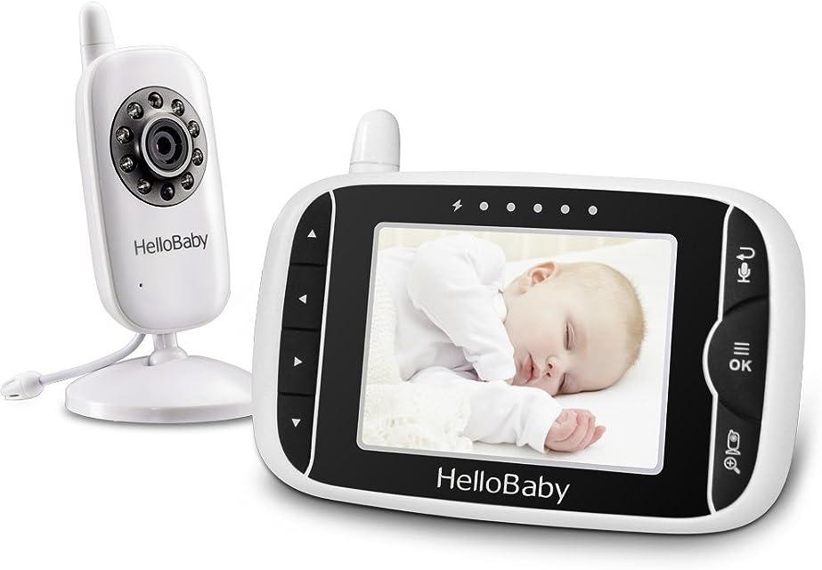 HelloBaby HB32 Monitor Inalámbrico de Vídeo con Cámara Digital Vigilancia de la Temperatura de Visión Nocturnay 2 Way Talkback System
