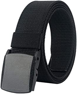 Belts for Men,Nylon Tactical Belt with YKK Plastic Buckle, Durable Breathable Fabric Waist Belt for Work Outdoor Golf Hiki...