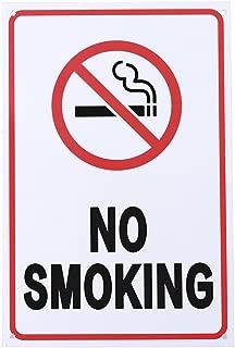 UEETEK NO SMOKING Sign Plastic Public Warning Sign No Smoking Warning Logo Stickers for Car Cafe Bar Restaurant Wall Decor 20 x 30 cm