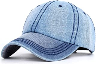YOKST Solid Color Ponytail Caps Quick Dry Denim Baseball Hats Outdoor Adjustable Sports Cap Foldable Washed Trucker Hat Sunscreen Breathable Sun Hat For Travel (Color : Light blue)