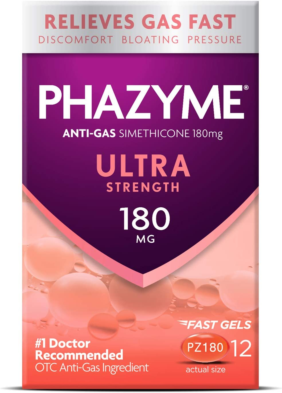 Phazyme Ultra Strength Gas  Bloating Relief, Works in Minutes,