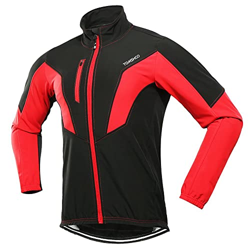 TOMSHOO Cycling Clothing Suit Men s Winter Thermal Fleece Cycling Jacket  Outdoor Sport Long Sleeve Windproof Coat 6cb6dd7b8