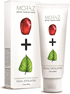 Moraz Exfoliating Face Cream with Pomegranate - Give Your Face Vitamin C, Face Scrub with Polygonum, 80ml