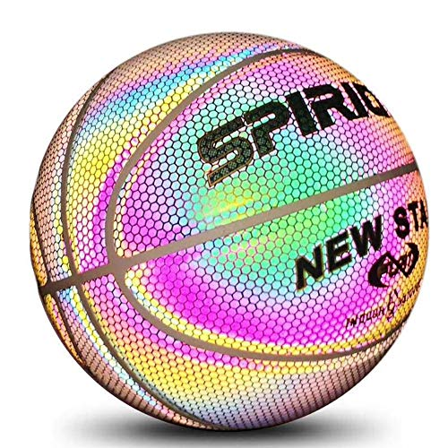 Find Cheap Glowing Basketball Holographic Glowing Reflective Basketball Lighted Flash Glow Basketbal...