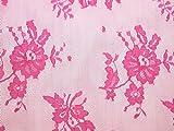 Zarte Spitzenstoff für Kleider, doppelseitig, Candy Pink