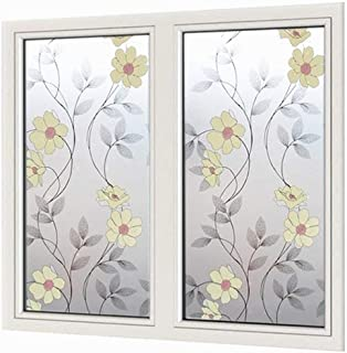 Emoyi Decorative Window Film Static Cling Glass Film No Glue Anti-UV Window Sticker 17.7in by 78.7in