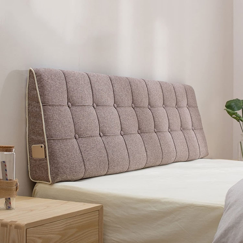 BTPDIAN 10 couleurs unies, 7 tailles disponibles, coussin dorsal triangulaire, support lombaire, lit en lin, coussin, chambre lavable (Couleur     6, taille   150 x 15 x 50cm)