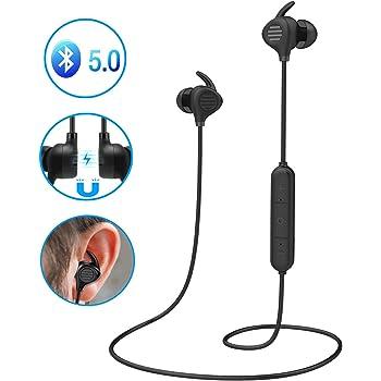 per iPhone Samsung LG Xiaomi Huawei Cuffie Bluetooth Magnetici Sport,Headset Auricolari Bluetooth 4.1 Stereo HiFi con Microfono,Noise Cancelling avanzate,Paio 2 Dispositivi