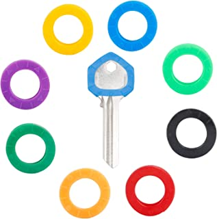 Uniclife Small Key Covers, 0.8 Inch Dia Key Identifiers, 24PCS in 8 Colors