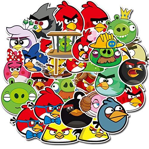 YCYY 100 Angry Birds Car Maletas Taza de teléfono móvil Pegatinas Decorativas de Graffiti a Prueba de Agua