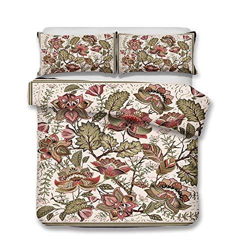zpangg Böhmische Paisley-Nostalgie (Bettbezug + Kissenbezug) Bettwäsche für Erwachsene Bettwäsche Bettwäsche-Sets