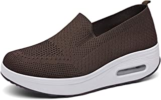 Femmes Baskets Chaussure de Course Running Fitness Gym Sport Air Athlétique Respirantes Marche Knit Confortable Sneakers O...