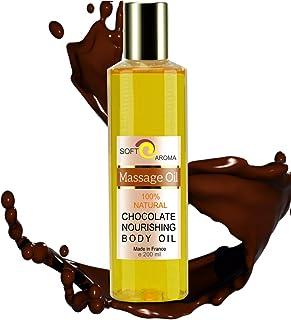 Aceite de Masaje de Chocolate 100% Natural - Relajación y Después del baño 200 ml - made in France