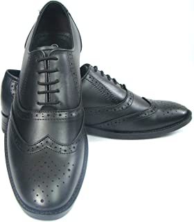 ASM Pure Leather Black Brouge Shoes with TPR Sole, Leather Insole, Fully Leather Lining and Memory Foam for Optimum Comfort for Men. Article : PU103