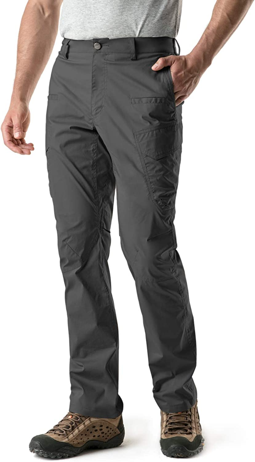 CQR Men's Hiking Pants, Water Repellent Outdoor Pants, Lightweight Stretch Cargo/Straight Work Pants, UPF 50+ Outdoor Apparel : Sports & Outdoors