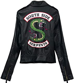 Riverdale Southside Serpents Jacket Vest for Adults with Faux Leather Unisex Casual Punk Printing Coat