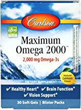 Sponsored Ad - Carlson - Maximum Omega 2000 Travel Pack, 2000 mg Omega-3s, Wild-Caught, Norwegian Fish Oil Supplement, Sus...