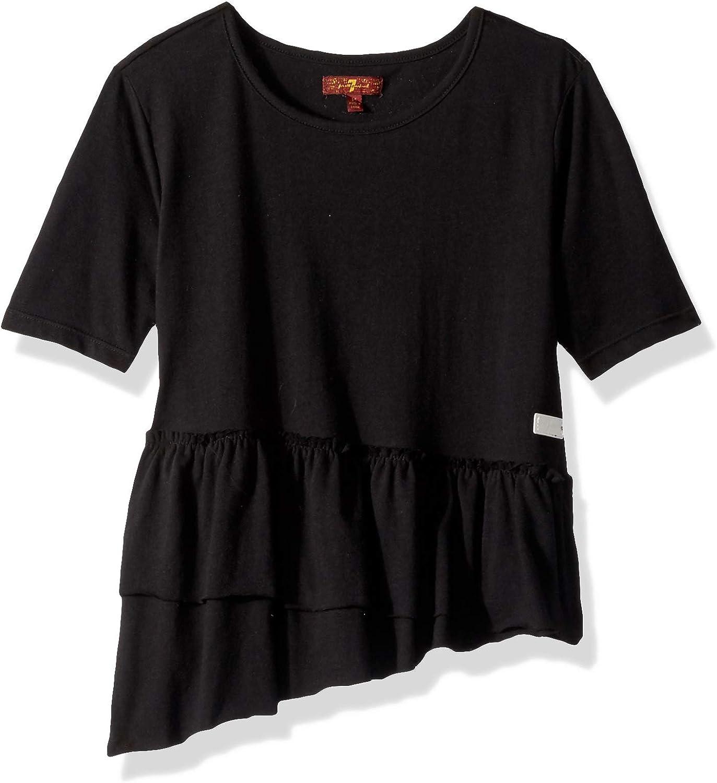 7 For All Mankind Girls' Ruffle Hem T-Shirt