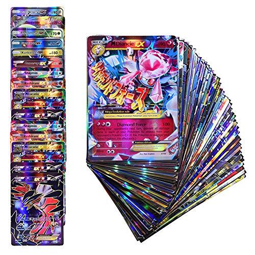 Anivia Jeux De Cartes 100 Pcs Pokemon Cartes Style Tcg Holo Ex Full Art 59 Cartes Ex 20 Cartes Mega Ex 20 Cartes Gx 1 énergie Carte Puzzle Jeu De