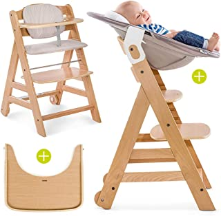 comprar comparacion Hauck Beta Plus Newborn Set - Trona evolutiva con hamaca para recién nacidos, cojín y bandeja - Trona bebe convertible- Si...