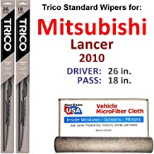 Best 2010 mitsubishi lancer wiper blade size Reviews
