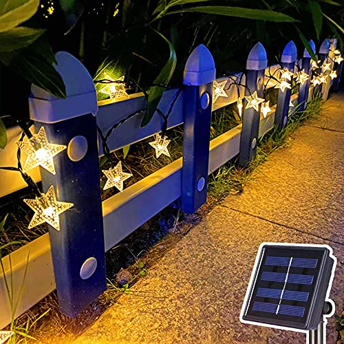 Guirnaldas Luces Exterior Solar Luces de Cadena Solar, Luces de Hadas al Aire Libre Impermeables, para jardín Yarda Fiesta Boda decoración navideña (2 Colores) Luces Exterior