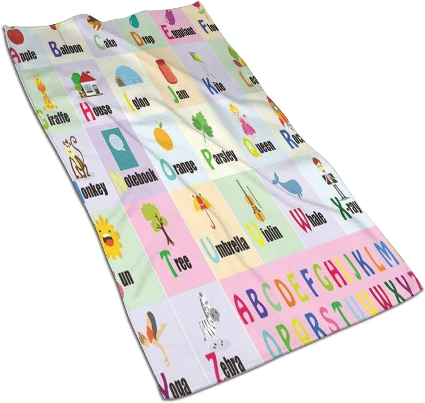 VINISATH 2 Pc Hand Towels Max 64% OFF Set for Ranking TOP5 Printing Kids Childre Bathroom